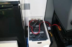 Battery. isolator, and inverter