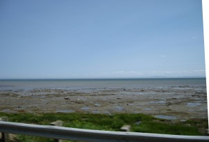 Gaspe across big St. Lawrence