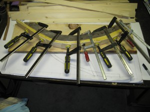 Glued up rib set